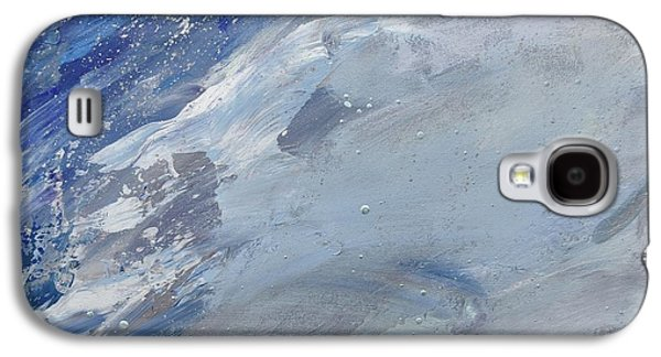 Silver Turquoise Galaxy S4 Case - God Divided The Light From The Darkness by Laurie Hein