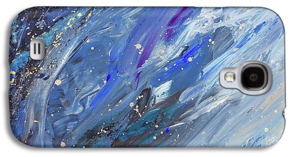 Silver Turquoise Galaxy S4 Case - Evening And The Morning Were The First Day by Laurie Snow  Hein