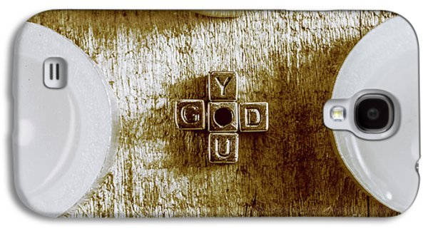 God Is You Metal Lettering Typography Near White Candles, Faith  Galaxy S4 Case by Jorgo Photography - Wall Art Gallery