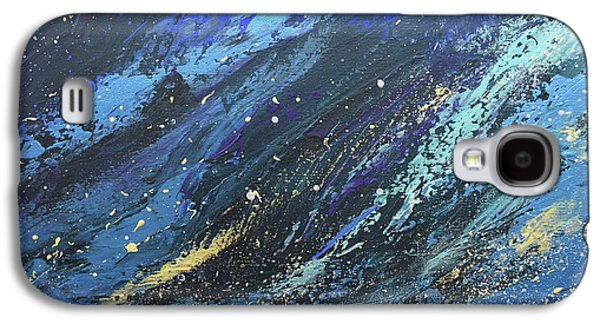 Silver Turquoise Galaxy S4 Case - God Moved Upon The Face Of The Waters by Laurie Hein
