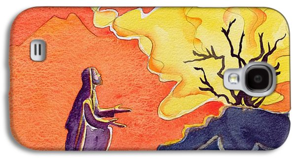 God Speaks To Moses From The Burning Bush Galaxy S4 Case by Elizabeth Wang