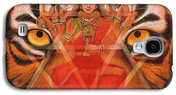 Goddess Durga Galaxy S4 Cases - Goddess Durga Galaxy S4 Case by Sue Halstenberg