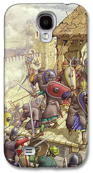 Godfrey De Bouillon's Forces Breach The Walls Of Jerusalem Galaxy S4 Case by Pat Nicolle