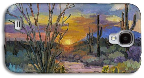 Desert Sunset Galaxy S4 Case - God's Day - Sonoran Desert by Diane McClary