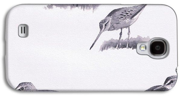 Godwits And Green Sandpipers Galaxy S4 Case by Archibald Thorburn
