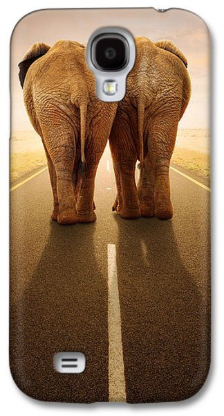 Going Away Together / Travelling By Road Galaxy S4 Case by Johan Swanepoel