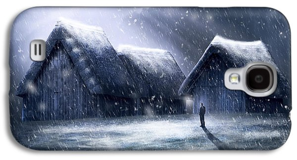 Going Home For Christmas Galaxy S4 Case by Svetlana Sewell