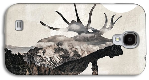 Going Wild Moose Galaxy S4 Case by Mindy Sommers
