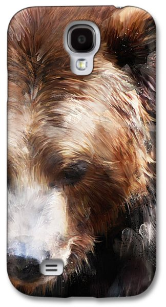 Bear // Gold Galaxy S4 Case by Amy Hamilton