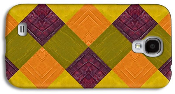 Galaxy S4 Case featuring the painting Gold And Green With Orange 2.0 by Michelle Calkins