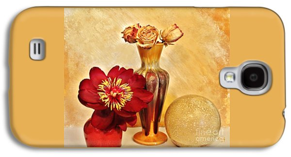 Gold And Red Still Life Galaxy S4 Case