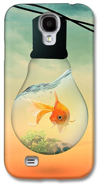 Gold Fish 4 Galaxy S4 Case by Mark Ashkenazi