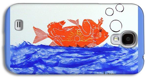 Gold Fish Galaxy S4 Case by International Artist Brent Litsey