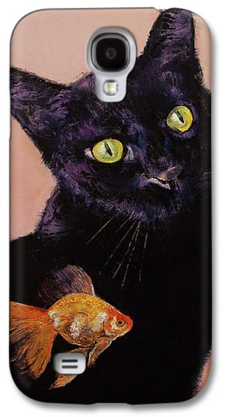Gold Fish Galaxy S4 Case by Michael Creese