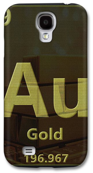 Gold Periodic Table Galaxy S4 Case by Dan Sproul
