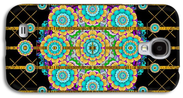 Gold Silver And Bloom Mandala Galaxy S4 Case