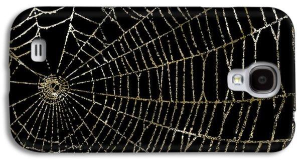 Gold Spider Web Fashion Halloween Galaxy S4 Case