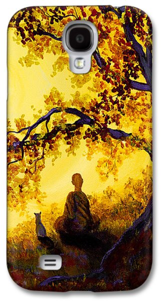 Golden Afternoon Meditation Galaxy S4 Case by Laura Iverson