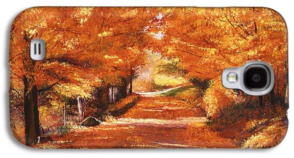Golden Autumn Galaxy S4 Case by David Lloyd Glover