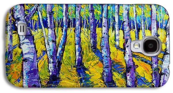 Golden Autumn Symphony Galaxy S4 Case by Mona Edulesco