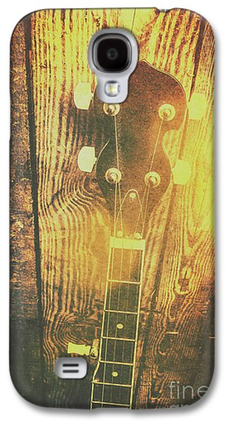 Golden Banjo Neck In Retro Folk Style Galaxy S4 Case by Jorgo Photography - Wall Art Gallery