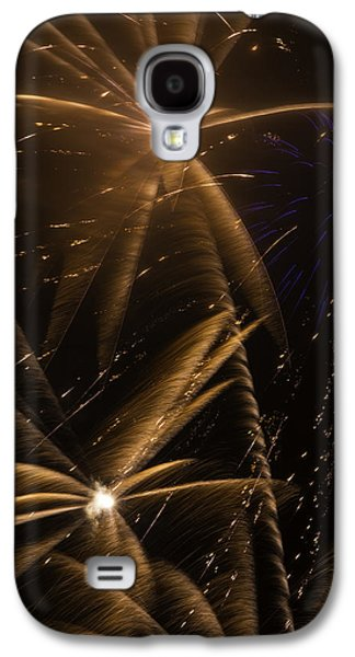 Pyrotechnics Galaxy S4 Cases - Golden Fireworks Galaxy S4 Case by Garry Gay