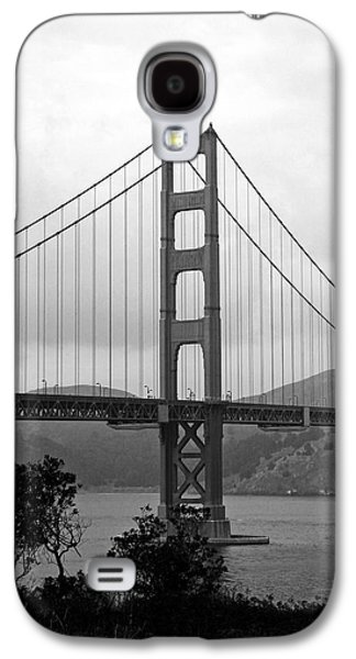 Golden Gate Bridge- Black And White Photography By Linda Woods Galaxy S4 Case by Linda Woods