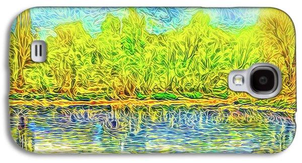 Golden Lake Reflections Galaxy S4 Case by Joel Bruce Wallach