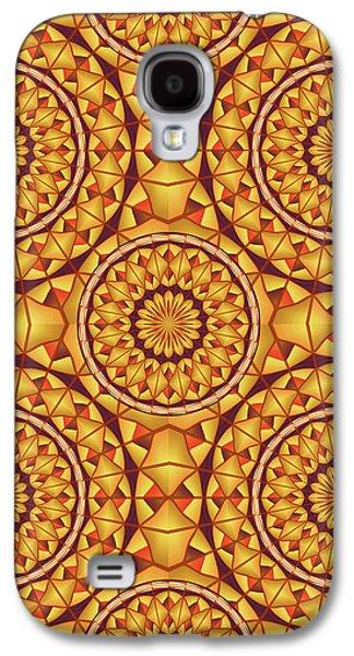 Golden Mandalas Pattern Galaxy S4 Case