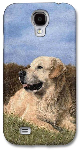 Golden Retriever Painting Galaxy S4 Case by Rachel Stribbling