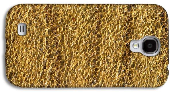 Golden Ripples Galaxy S4 Case by Wim Lanclus