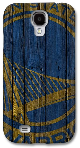 Golden State Warriors Wood Fence Galaxy S4 Case by Joe Hamilton