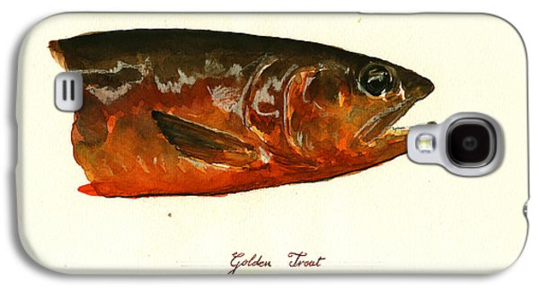 Golden Trout  Galaxy S4 Case by Juan  Bosco