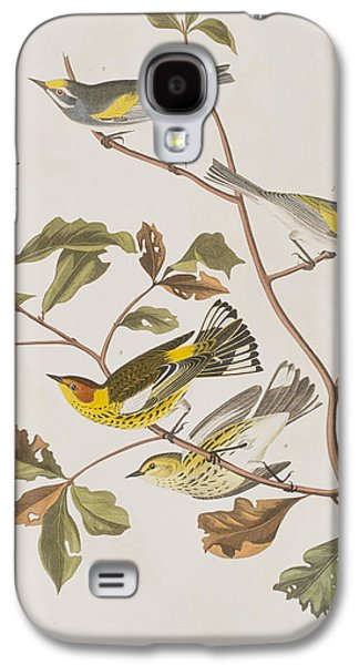 Golden Winged Warbler Or Cape May Warbler Galaxy S4 Case by John James Audubon