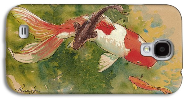 Goldfish Crossing Galaxy S4 Case by Tracie Thompson