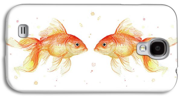 Goldfish Love Watercolor Galaxy S4 Case