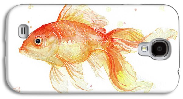 Goldfish Painting Watercolor Galaxy S4 Case by Olga Shvartsur