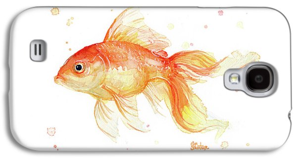 Goldfish Painting Watercolor Galaxy S4 Case