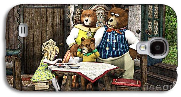 Goldilocks N The 3 Bears Galaxy S4 Case by Methune Hively