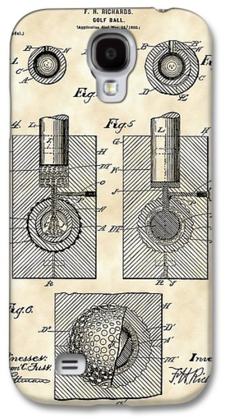 Golf Ball Patent 1902 - Vintage Galaxy S4 Case