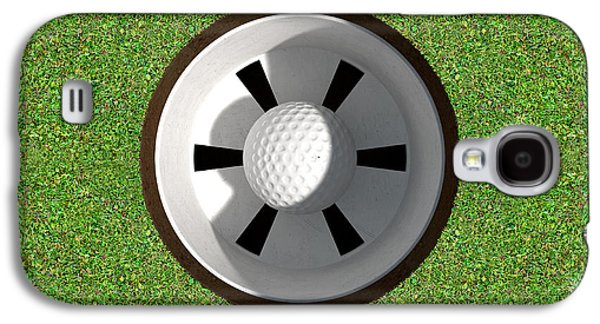 Golf Hole With Ball Inside Galaxy S4 Case by Allan Swart