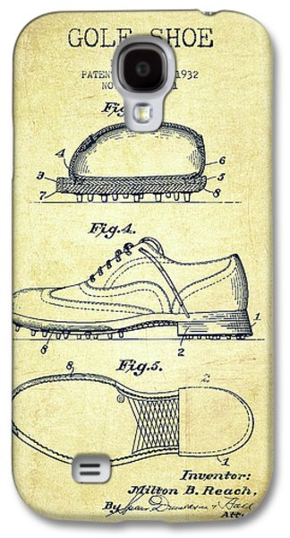 Golf Shoe Patent Drawing From 1931 - Vintage Galaxy S4 Case by Aged Pixel