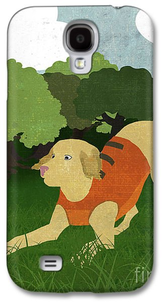 Good Dog Hunter In Training Golden Lab, Bunny Rabbit Galaxy S4 Case by Tina Lavoie