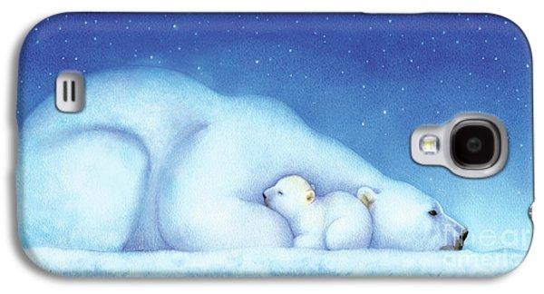Polar Bear Galaxy S4 Case - Arctic Bears, Goodnight Nanook by Tracy Herrmann