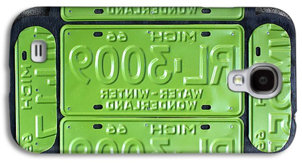 Google Android Logo Recycled License Plate Art On Cement Wall Galaxy S4 Case