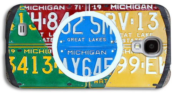 Google Chrome Logo Recycled License Plate Art On Cement Wall Galaxy S4 Case