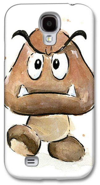 Goomba Watercolor Galaxy S4 Case by Olga Shvartsur
