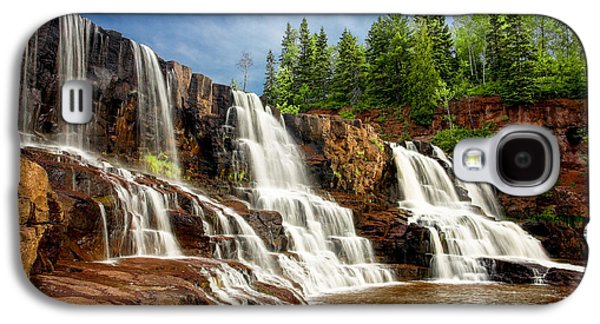 Galaxy S4 Case featuring the photograph Gooseberry Falls by Rikk Flohr