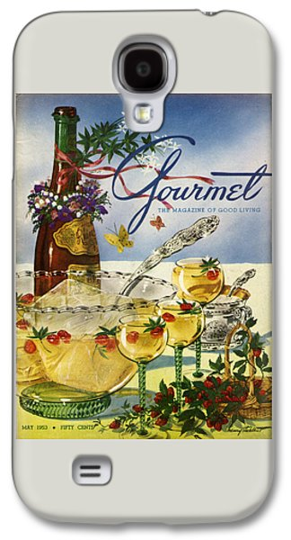 Gourmet Cover Featuring A Bowl And Glasses Galaxy S4 Case by Henry Stahlhut