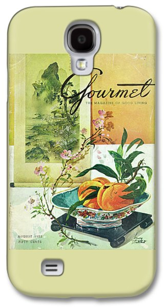 Gourmet Cover Featuring A Bowl Of Peaches Galaxy S4 Case by Henry Stahlhut